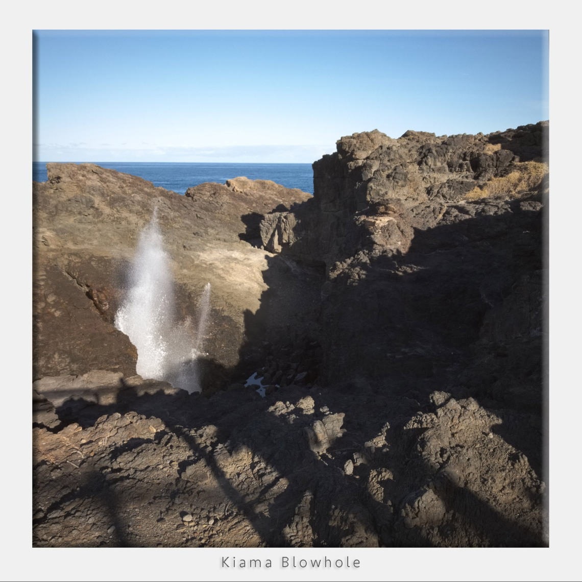 Kiama Blow Hole, testing the DNG photo quality iPad Pro