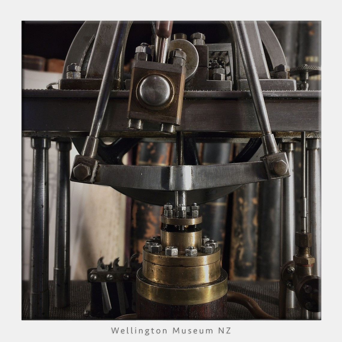 simulated depth of field,model steam pump, wellington museum new zealand.