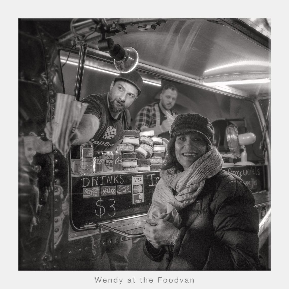 Wendy at the Food Van