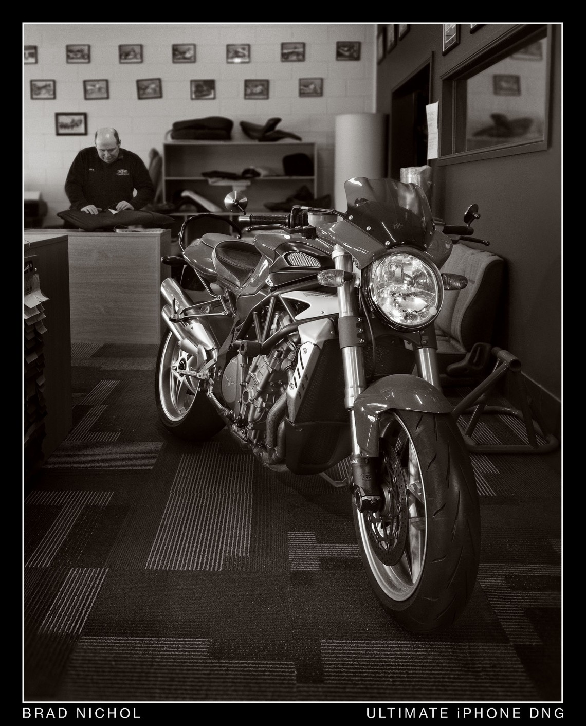 MV Augusta in Motor Trimming Shop
