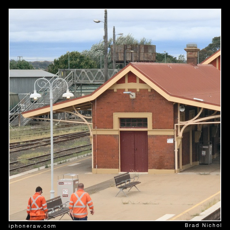 Goulburn Railway Station, section of test file, iPhone X telephoto les module 16 ISO UNiWb capture, fully processed.