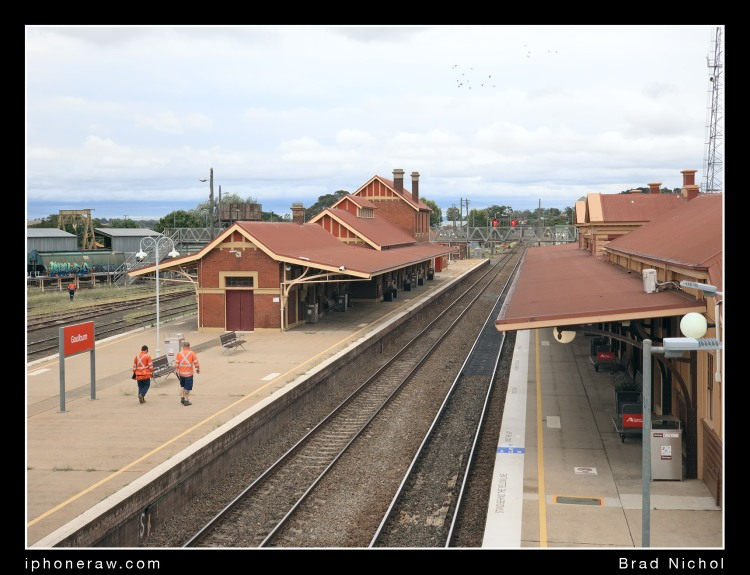 Goulburn railways station, standard test shot by Brad Nichol, iPhone x tele lens, wide tonal range, shows high performance result.