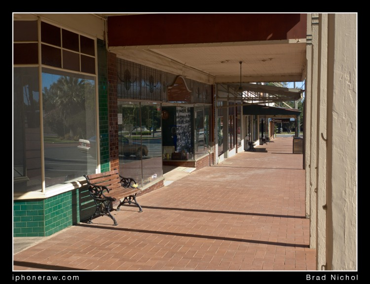 Coolamon Main Street NSW, iPhone X Telephoto lens test. TLC, film like colour and tone rendering.